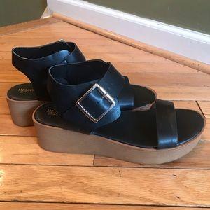 Mossimo Supply Co. Black Platform Sandals Sz 8